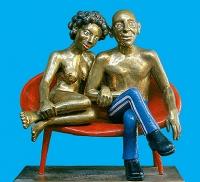 |2000|painted bronze|90х90х60cm